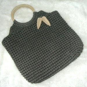 Tommy Bahama Brown Lined Crochet Handbag NWOT